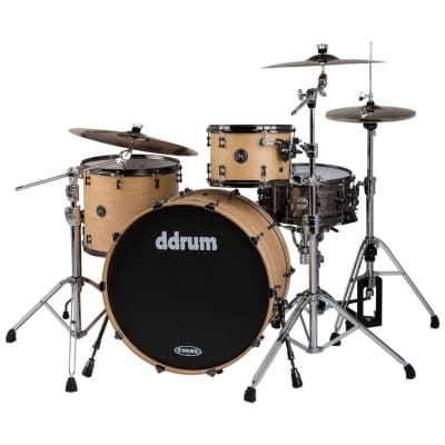 ddrum MAX 324 SN 3 Piece Alder Shell Pack, Satin Natural Lacquer