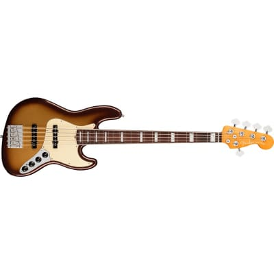 Fender American Ultra Jazz Bass V, Rosewood Fingerboard, Mocha Burst for sale