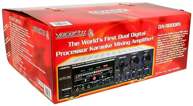 Vocopro DA-9800RV 600 Watt Powered Karaoke Mixer ...