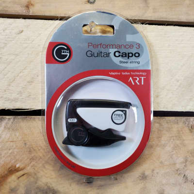 G7th Black Performance 3 ART Capo - Perfect fit on all of your steel six-strings - Universal Radius
