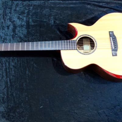 Used 2013 Terry Pack SJRS acoustic/electric guitar, solid rosewood/Sitka, had professional repair for sale