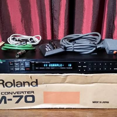 Roland  GM-70 GR MIDI Converter Pitch to MID Converter 1980s Black