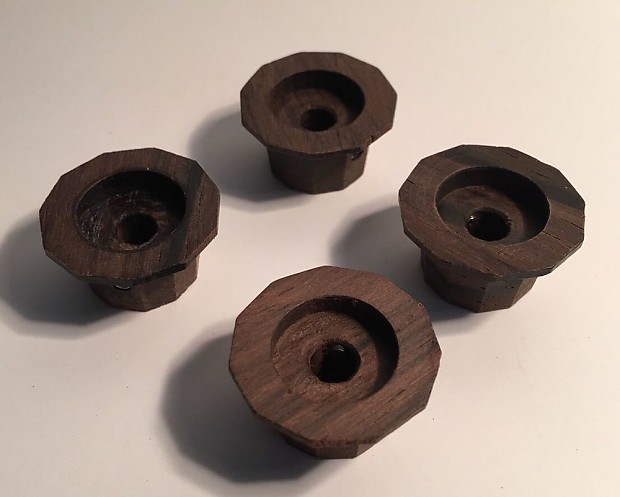 Guilford Brazilian Rosewood 11 Sided Facet Cut Guitar Knobs Set Of 4 USA