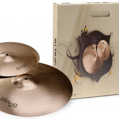 Stagg B8 Bronze Cymbal Set for beginners/ students,