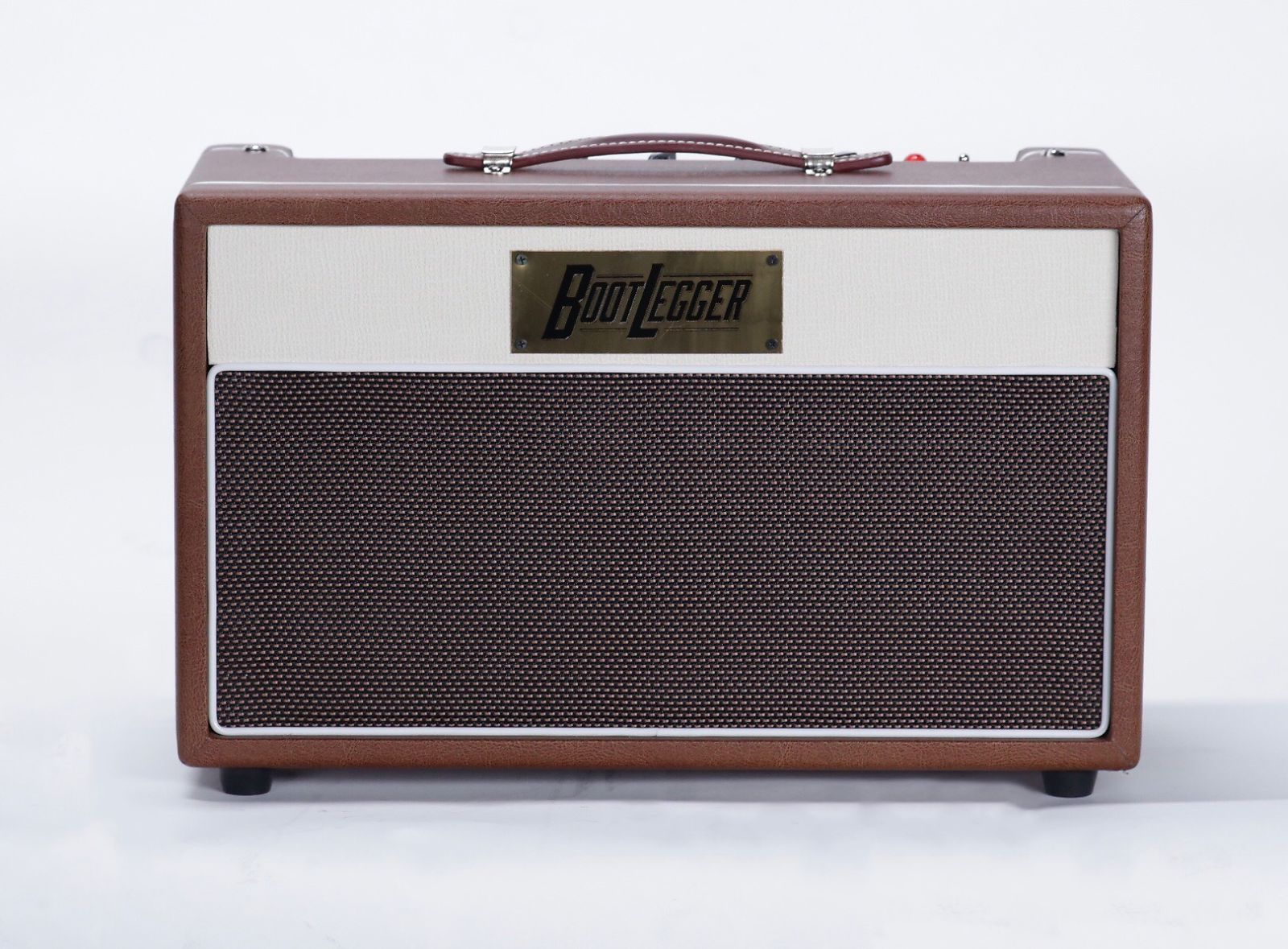 Bootlegger Guitar  Blues 15 & 12 Inch  Eminence Cabinet 2018 Brown and White