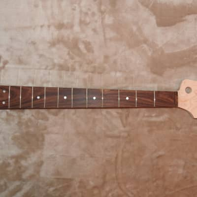 "J-Bass Style Neck Bolivian Rosewood on Hard Maple 20 Medium Tall Frets Slim Taper Profile 16"" Radius"