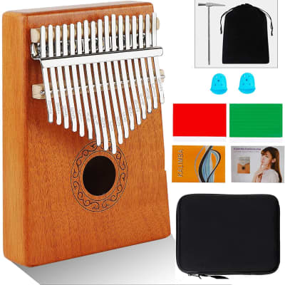 17 Key Wooden Kalimba Thumb Piano Mbira Full Kit Bundle