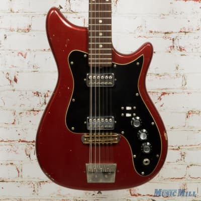 '60s Kapa Made In USA 12-String Electric Guitar Red (USED) for sale