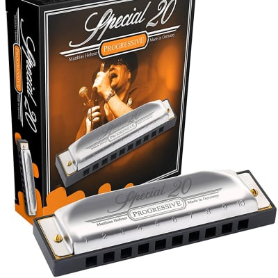 Hohner 560PBX-F Progressive Series 560 Special 20 Harmonica - Key of F