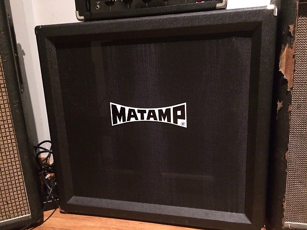 Matamp black 4X12 empty cabinet | Reverb