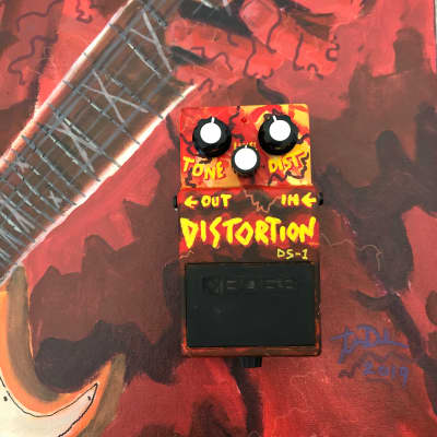 Hand-Painted Boss DS-1 Distortion for sale