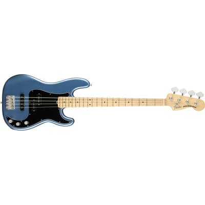 Fender American Performer Precision Bass, Maple, Satin Lake Placid Blue for sale