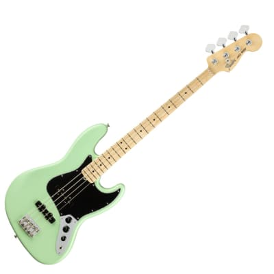Fender American Performer Jazz Bass - Satin Surf Green w/ Maple Fingerboard - Used