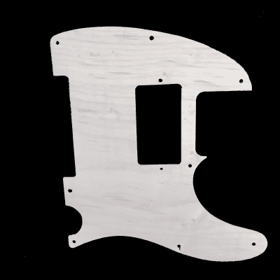 Maple Telecaster pickguard in White