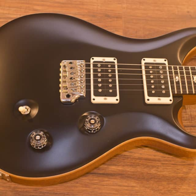 PRS Custom 24 | Satin Black | Natural Back image