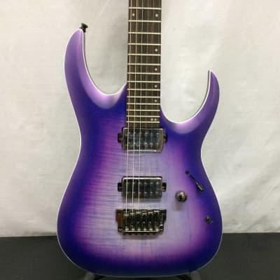Ibanez RGA61ALIAF RGA Axion Label 6str Electric Guitar, Indigo Aurora Burst Flat - Customer Return