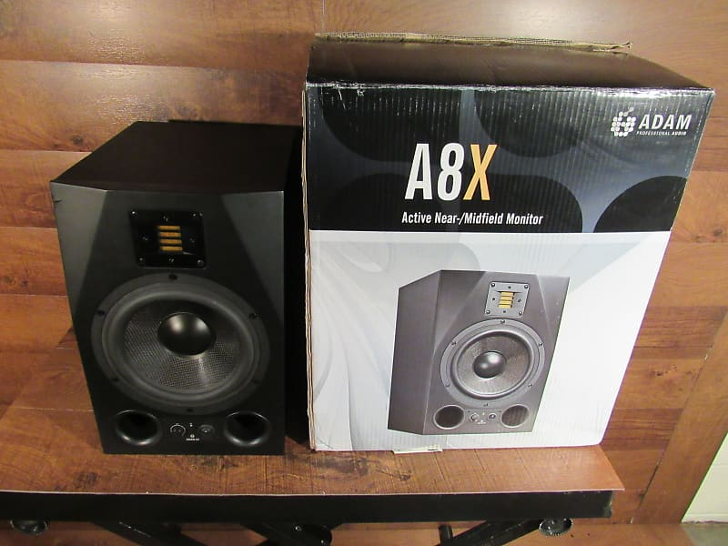 adam audio a8x active nearfield monitor single black reverb. Black Bedroom Furniture Sets. Home Design Ideas