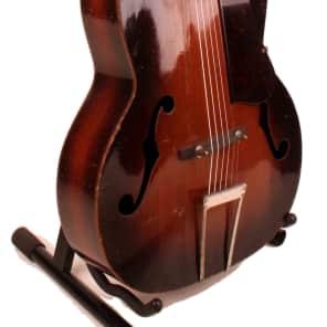 Vintage 1940's Kay Arch Top Acoustic Guitar 2-Tone Sunburst with Non Original Case, Jack White VIDEO for sale