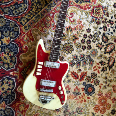 Zenon/Guyatone/Teisco 1960's Cream/Red goldfoil pickups for sale