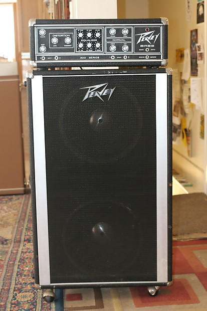 peavey 400 series head w 2x15 cabinet black silver reverb. Black Bedroom Furniture Sets. Home Design Ideas