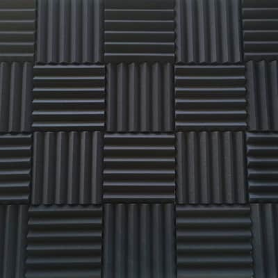 Acoustic Foam Panels - Bulk 2 Inch Thick Studio Foam Tiles - Charcoal Color - 48 Square Feet