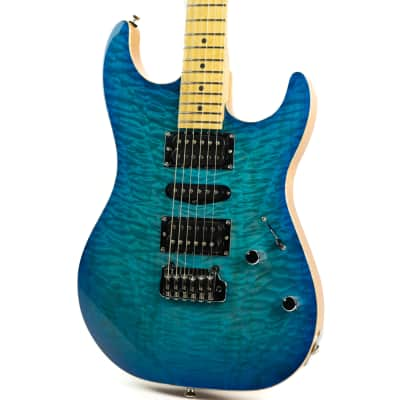Mint Mike Lull SX  Blue Burst One Off 5A Top for sale