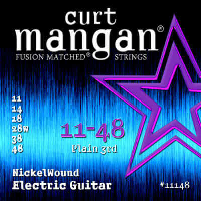 Curt Mangan 11148 Fusion Matched Nickelwound Electric Guitar Strings gauges 11-48