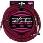 """Ernie Ball 6062 25-Foot 1/4"""" Straight/Angle Braided Black/Red Guitar Cable image"""