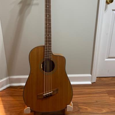 Emerald Bay Handmade fan fret(multi-scale) dreadnought cutaway acoustic bass for sale