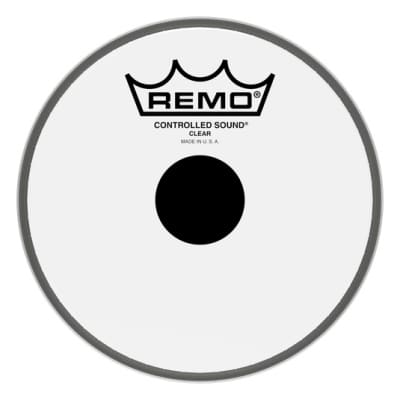 """Remo Controlled Sound Top Black Dot Drum Head 6"""""""