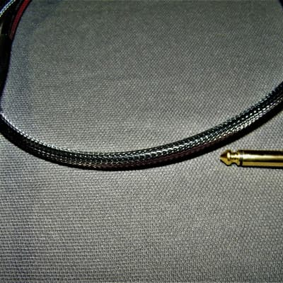 EarCandy Tone Rush 3' straight to Right angle amp to cab speaker Cable - Carbon