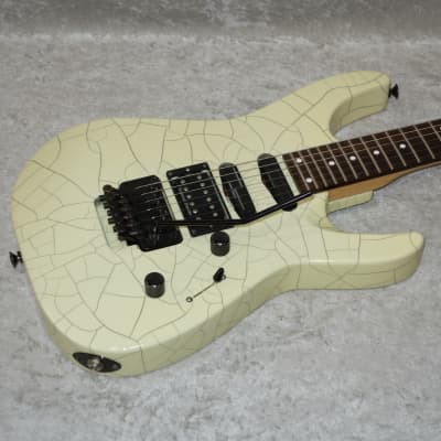 1991 Charvel Fusion Custom electric guitar in Desert Crackle finish with case for sale