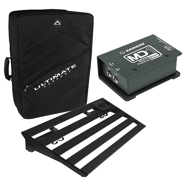 Ultimate Support GSP-500-BK Pedalboard with Instrumental Mono Passive  Direct Box