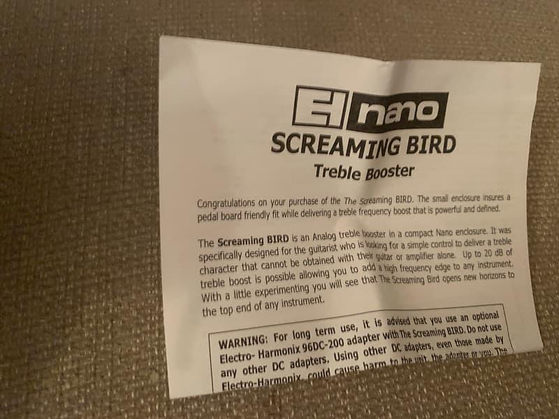 electro harmonix screaming bird treble booster pedal reverb. Black Bedroom Furniture Sets. Home Design Ideas