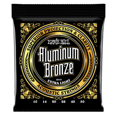 Ernie Ball 2570 Extra Light Aluminum Bronze Acoustic Guitar Strings - 10-50 Gauge