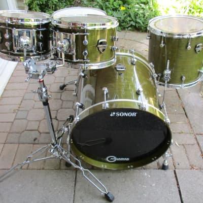 Odery Custom Drums - Gretsch USA Custom Jade Green / Yamaha Aluminum Die-Cast / Sonor / Dunnett