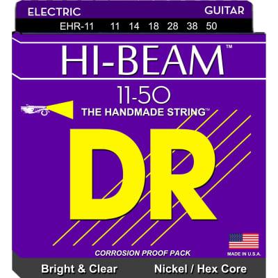 DR Hi-Beam EHR-11 Nickel-Plated Steel Hex Core Electric Strings Heavy 11-50