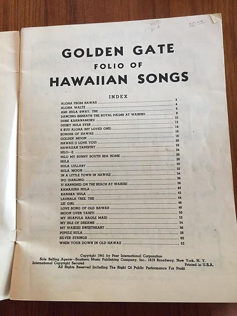 Rare 1941 Song Folio: