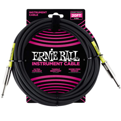 Ernie Ball Instrument Cable Straight 20ft P06046 for sale