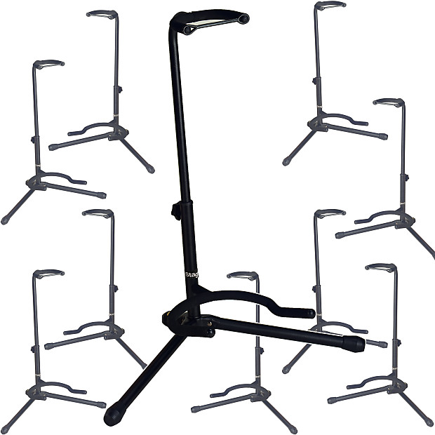 stagg tripod guitar stand 10 pack austin bazaar reverb. Black Bedroom Furniture Sets. Home Design Ideas
