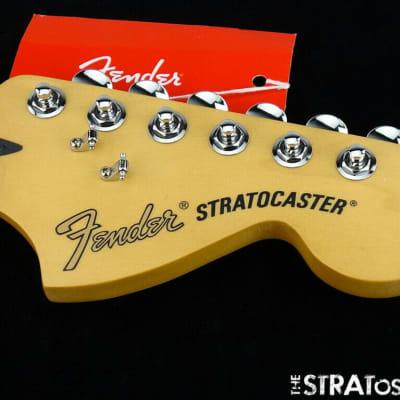 "'19 Fender Deluxe Series Stratocaster NECK+ LOCKING TUNERS  Strat 12"" 6105 Maple"