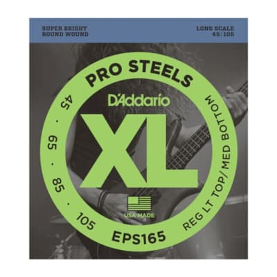 D'Addario Pro Steels LT Top/Med Bottom Strings