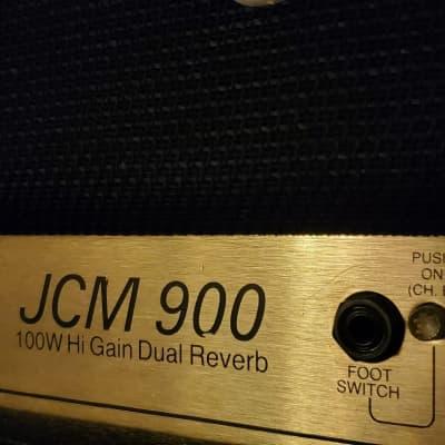 Marshall JCM 900 4100 Hi-gain Dual Reverb Head Black 1990s Marshall 1960a 4x12 Cabinet