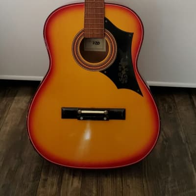 Checkmate G220 Acoustic Guitar~60's/70's~Western Style~Cherry Red~Made In Korea for sale