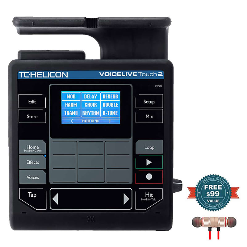 tc helicon voicelive touch 2 with free wireless earbuds reverb. Black Bedroom Furniture Sets. Home Design Ideas