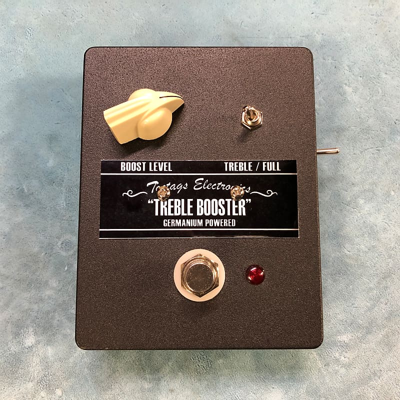 Toetags Electronics Treble Booster Germanium Powered Boost Effects Pedal