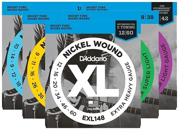 d 39 addario xl nickel wound electric guitar strings jazz reverb. Black Bedroom Furniture Sets. Home Design Ideas