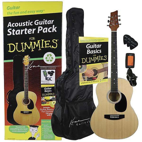 kona k394d 6 string acoustic guitar starter pack for dummies reverb. Black Bedroom Furniture Sets. Home Design Ideas