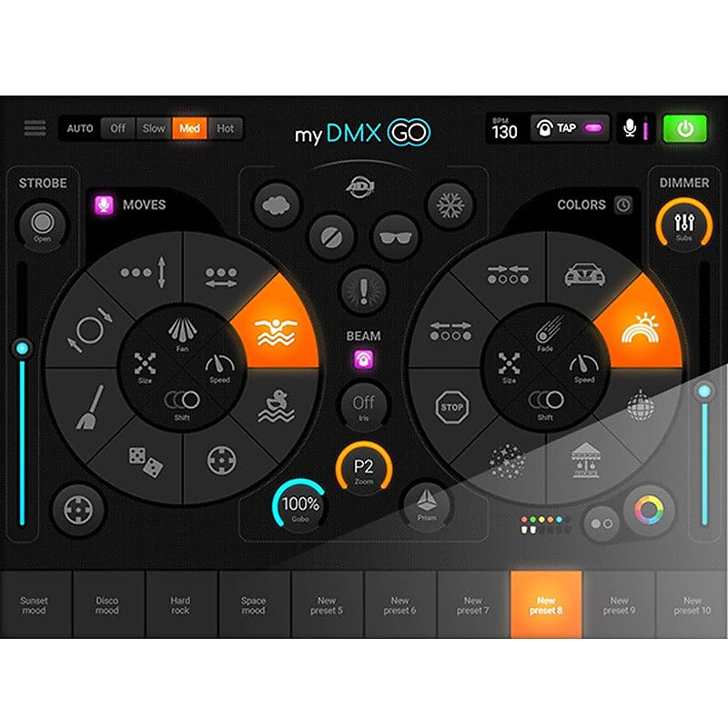 American DJ MyDMX GO DMX Lighting Control for iPad or Android - Ships FREE  Lower 48 States!