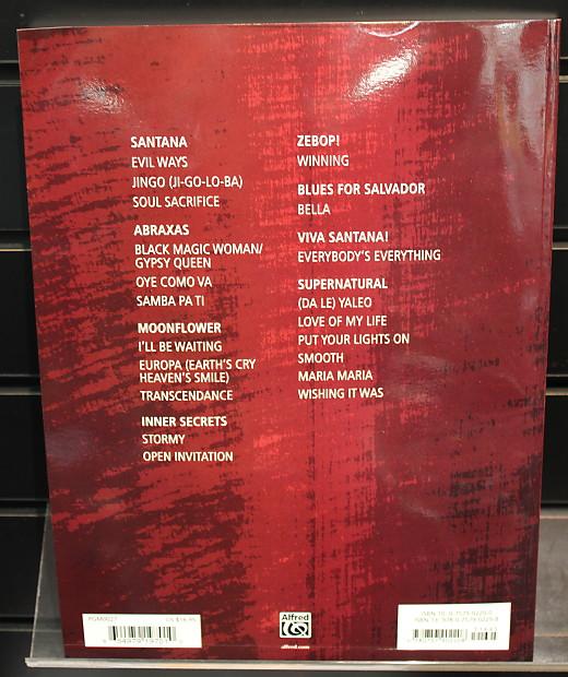 Carlos Santana: Easy Guitar Anthology TAB Songbook